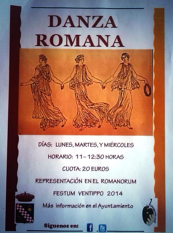 ¿Quieres participar en el Taller de Danza Romana?