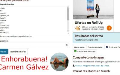 Carmen Gálvez es la ganadora de nuestro Concurso en Instagram