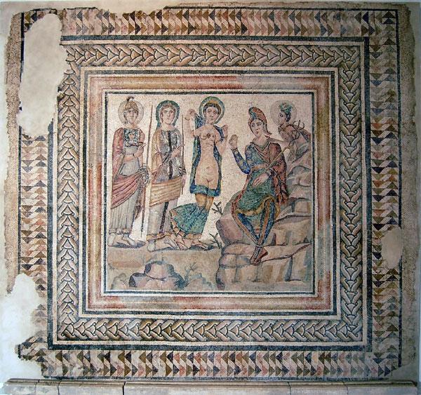 Este mes se cumplen 28 años del descubrimiento del mosaico «Juicio de Paris» en Casariche